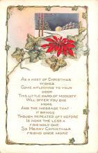 hol052043 - Christmas Postcard Old Vintage Antique Post Card