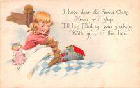 hol052047 - Christmas Postcard Old Vintage Antique Post Card