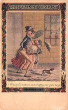 hol052055 - Christmas Postcard Old Vintage Antique Post Card