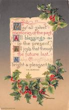 hol052057 - Christmas Postcard Old Vintage Antique Post Card