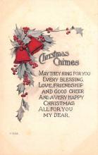hol052059 - Christmas Postcard Old Vintage Antique Post Card