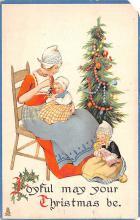 hol052063 - Christmas Postcard Old Vintage Antique Post Card