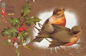 hol052065 - Christmas Postcard Old Vintage Antique Post Card