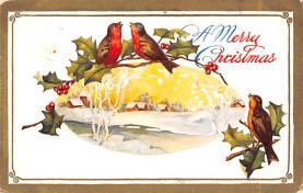 hol052067 - Christmas Postcard Old Vintage Antique Post Card