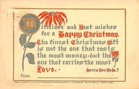 hol052073 - Christmas Postcard Old Vintage Antique Post Card