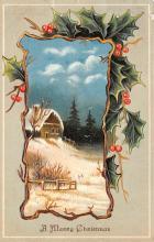 hol052075 - Christmas Postcard Old Vintage Antique Post Card