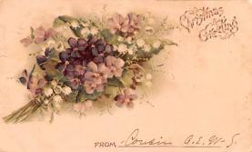 hol052083 - Christmas Postcard Old Vintage Antique Post Card