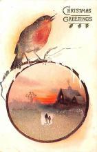 hol052085 - Christmas Postcard Old Vintage Antique Post Card
