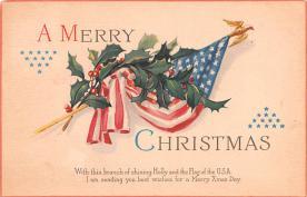 hol052097 - Christmas Postcard Old Vintage Antique Post Card
