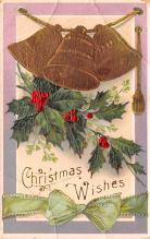 hol052101 - Christmas Postcard Old Vintage Antique Post Card
