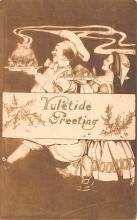 hol052103 - Christmas Postcard Old Vintage Antique Post Card