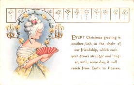 hol052105 - Christmas Postcard Old Vintage Antique Post Card