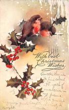 hol052111 - Christmas Postcard Old Vintage Antique Post Card