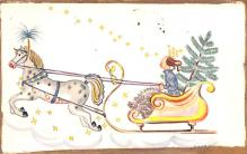 hol052113 - Christmas Postcard Old Vintage Antique Post Card