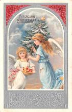 hol052115 - Christmas Postcard Old Vintage Antique Post Card