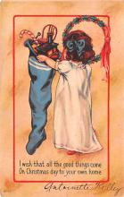 hol052123 - Christmas Postcard Old Vintage Antique Post Card