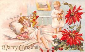 hol052125 - Christmas Postcard Old Vintage Antique Post Card
