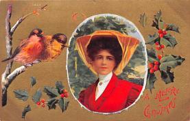 hol052129 - Christmas Postcard Old Vintage Antique Post Card