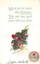 hol052131 - Christmas Postcard Old Vintage Antique Post Card
