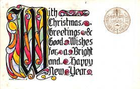 hol052133 - Christmas Postcard Old Vintage Antique Post Card