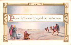 hol052135 - Christmas Postcard Old Vintage Antique Post Card