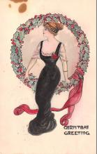 hol052141 - Christmas Postcard Old Vintage Antique Post Card