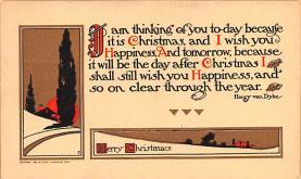 hol052143 - Christmas Postcard Old Vintage Antique Post Card