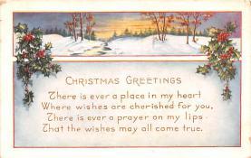 hol052155 - Christmas Postcard Old Vintage Antique Post Card