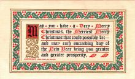 hol052159 - Christmas Postcard Old Vintage Antique Post Card