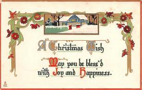 hol052165 - Christmas Postcard Old Vintage Antique Post Card