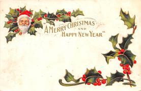 hol052171 - Christmas Postcard Old Vintage Antique Post Card