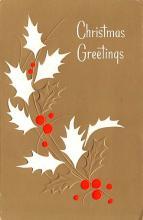 hol052173 - Christmas Postcard Old Vintage Antique Post Card