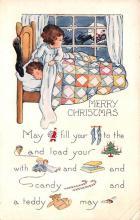 hol052175 - Christmas Postcard Old Vintage Antique Post Card