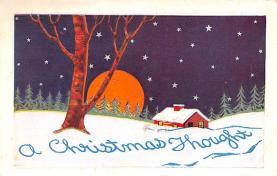 hol052179 - Christmas Postcard Old Vintage Antique Post Card