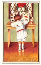 hol052181 - Christmas Postcard Old Vintage Antique Post Card