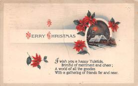 hol052183 - Christmas Postcard Old Vintage Antique Post Card