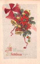hol052185 - Christmas Postcard Old Vintage Antique Post Card
