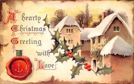 hol052191 - Christmas Postcard Old Vintage Antique Post Card