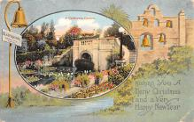 hol052193 - Christmas Postcard Old Vintage Antique Post Card