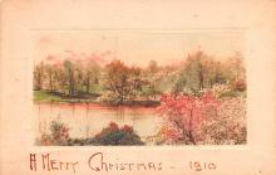 hol052203 - Christmas Postcard Old Vintage Antique Post Card