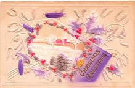 hol052207 - Christmas Postcard Old Vintage Antique Post Card