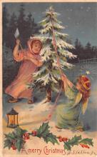 hol052209 - Christmas Postcard Old Vintage Antique Post Card