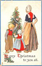hol052215 - Christmas Postcard Old Vintage Antique Post Card