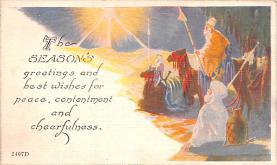 hol052217 - Christmas Postcard Old Vintage Antique Post Card