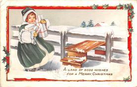 hol052219 - Christmas Postcard Old Vintage Antique Post Card