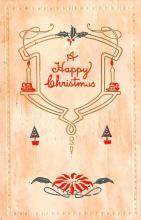 hol052229 - Christmas Postcard Old Vintage Antique Post Card