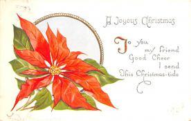 hol052231 - Christmas Postcard Old Vintage Antique Post Card