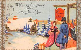 hol052233 - Christmas Postcard Old Vintage Antique Post Card