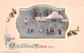hol052237 - Christmas Postcard Old Vintage Antique Post Card