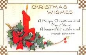 hol052239 - Christmas Postcard Old Vintage Antique Post Card